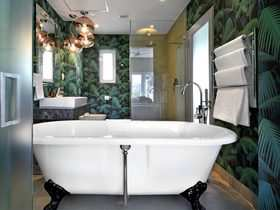 Franschhoek Boutique Hotel Cape Winelands Luxury Western Cape South Africa Accommodation Palm Bathroom